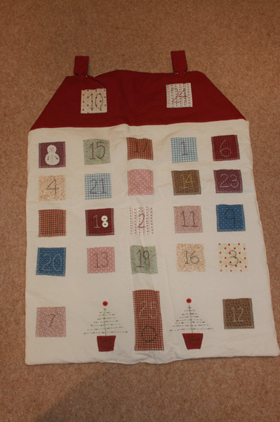 Hand made advent calendar
