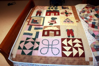 Hand made quilt bedspread