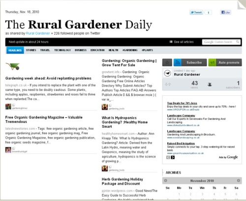 The Rural Gardener Daily