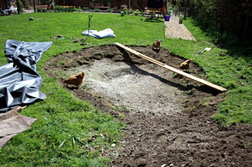 Your pond will need to be level if you don't want to see any unsightly liner