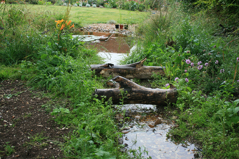 How to build your own wildlife pond 2 creating a stream for Creating a pond