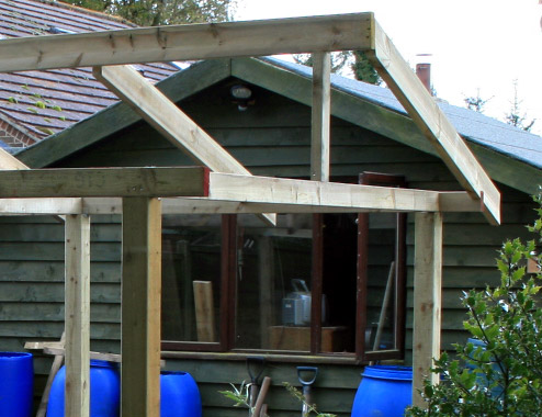 How to cut a pitch roof with The Rural Gardener