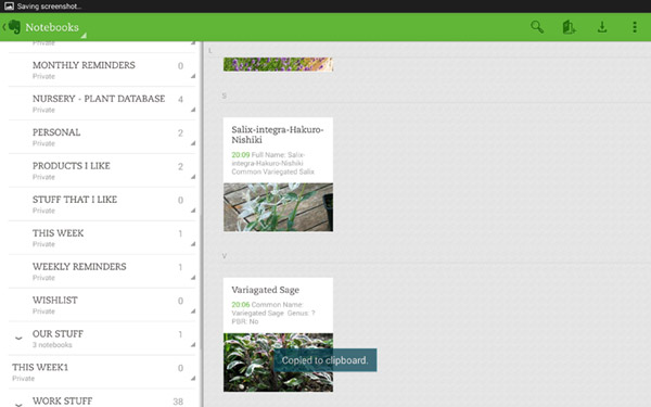 Grow your own plant database using Evernote |