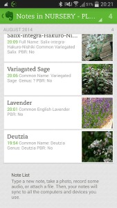 Evernote for gardeners