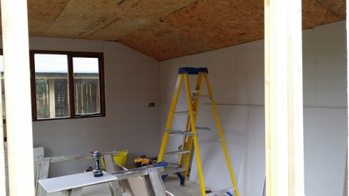 Plasterboard on OSB