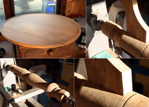 How to make a round top occasional table